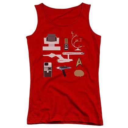 Star Trek TOS Gift Set Red Juniors Tank Top