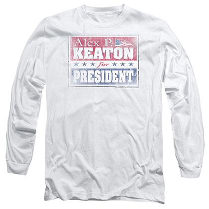 Family Ties Alex For President White Long Sleeve T-Shirt
