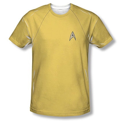 Star Trek TOS Command Uniform Costume Sublimation T-Shirt