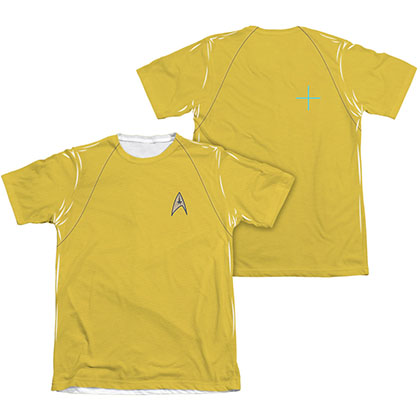 Star Trek TOS Command Uniform Costume Two-Sided Sublimation T-Shirt