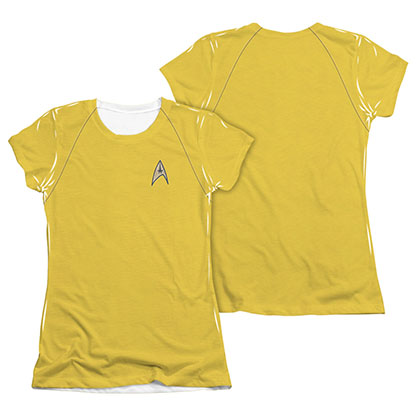 Star Trek TOS Command Uniform Costume Juniors Sublimation T-Shirt