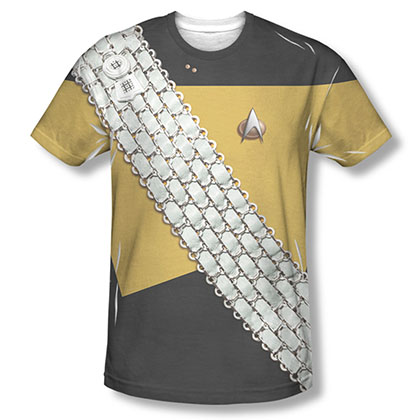 Star Trek TNG Worf Uniform Costume Sublimation T-Shirt
