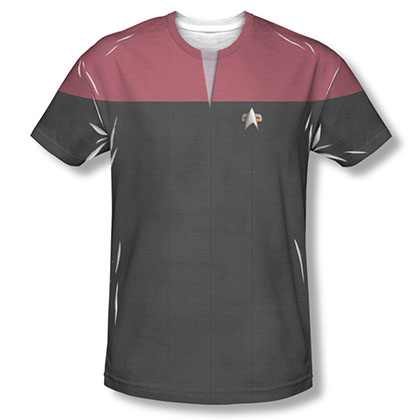 Star Trek Voyager Command Red Uniform Costume Sublimation T-Shirt