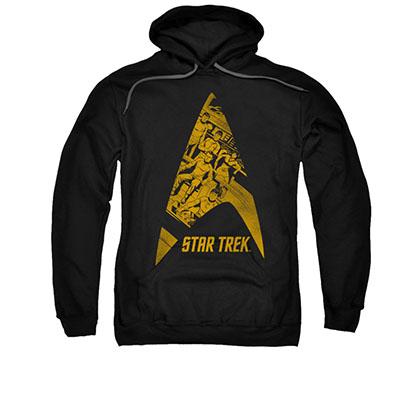 Star Trek Delta Crew Logo Black Pullover Hoodie