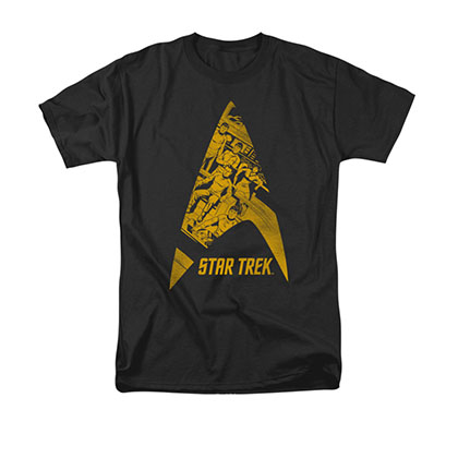 Star Trek Delta Crew Black Tee Shirt