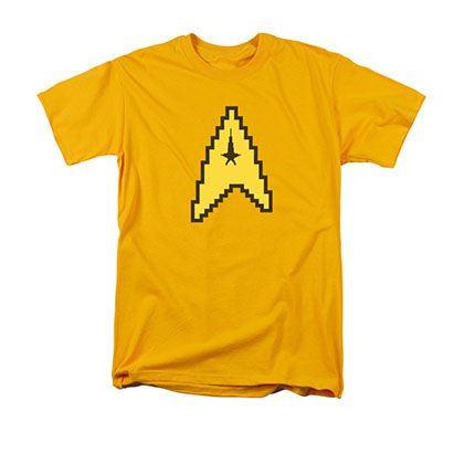 Star Trek TOS 8-Bit Command Symbol Yellow T-Shirt