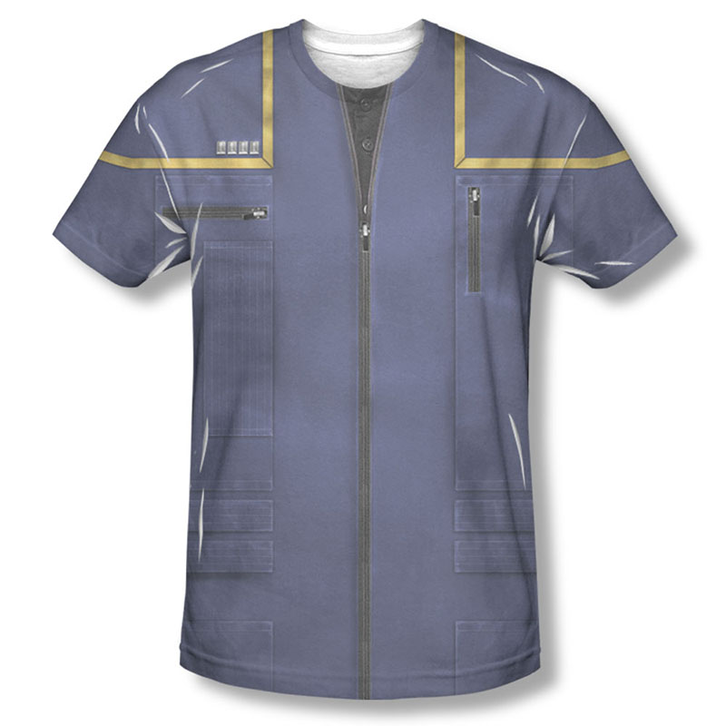 Star Trek Enterprise Command Uniform Costume Sublimation T ...