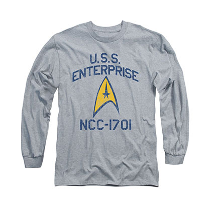 Star Trek Collegiate Arch Gray Long Sleeve T-Shirt