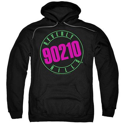 Beverly Hills 90210 Neon Black Pullover Hoodie