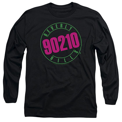 Beverly Hills 90210 Neon Black Long Sleeve T-Shirt