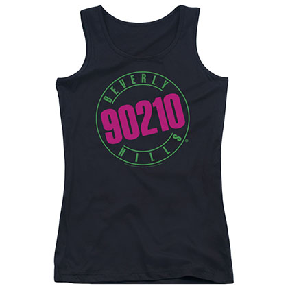 Beverly Hills 90210 Neon Black Juniors Tank Top