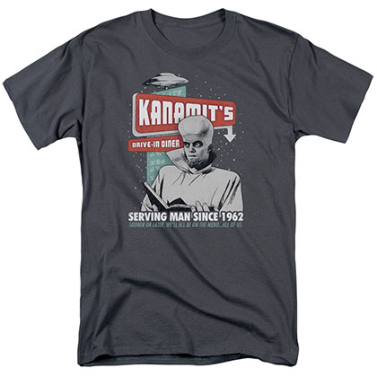 Twilight Zone Kanamits Diner Gray T-Shirt