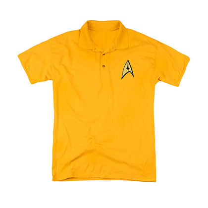 Star Trek TOS Command Uniform Costume Polo Shirt