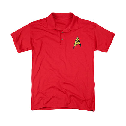 Star Trek TOS Engineering Uniform Costume Polo Shirt
