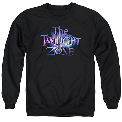 Twilight Zone Twilight Galaxy Black Crew Neck Sweatshirt