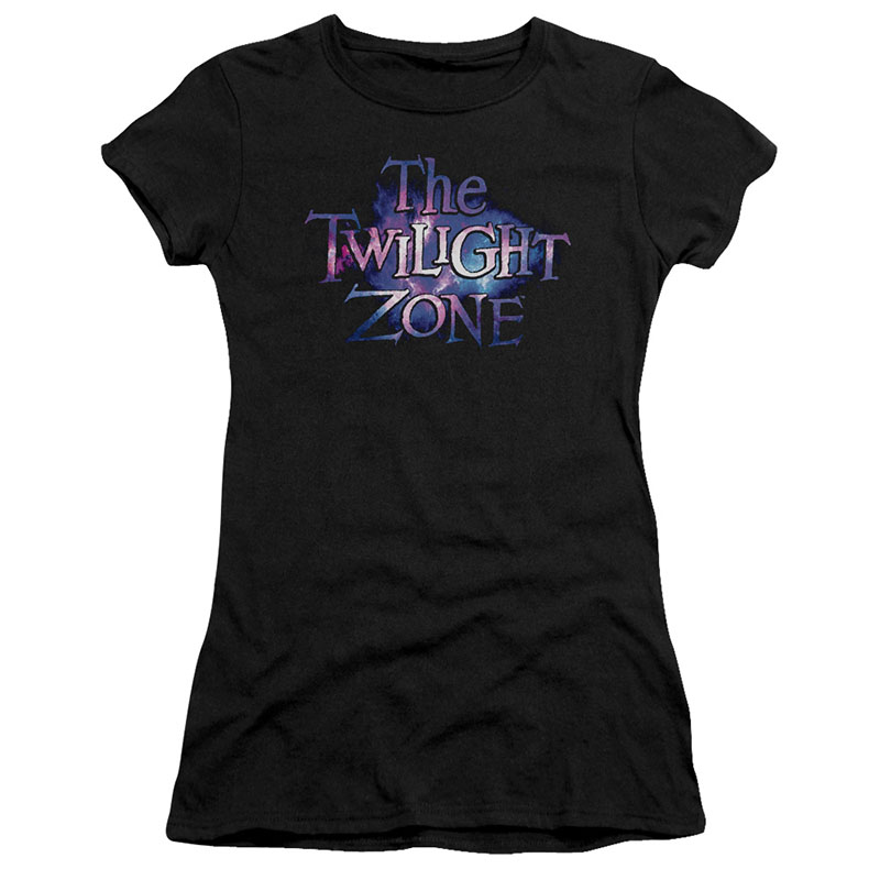 Twilight Zone Twilight Galaxy Black Juniors T-Shirt
