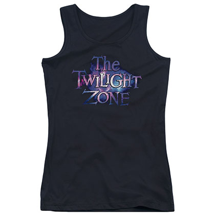 Twilight Zone Twilight Galaxy Black Juniors Tank Top