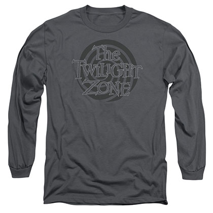 Twilight Zone Spiral Logo Gray Long Sleeve T-Shirt