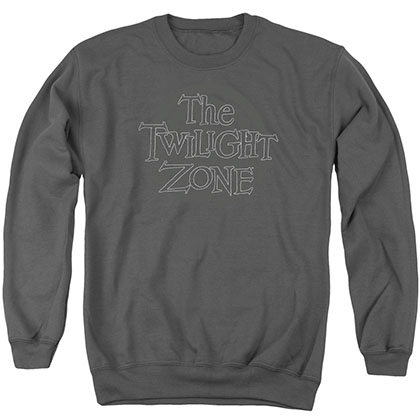 Twilight Zone Spiral Logo Gray Crew Neck Sweatshirt