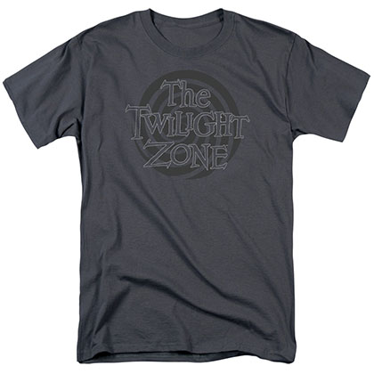Twilight Zone Spiral Logo Gray T-Shirt