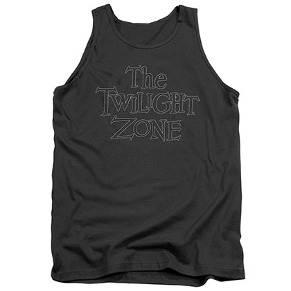 Twilight Zone Spiral Logo Gray Tank Top