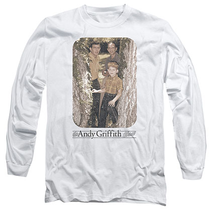 Andy Griffith Tree Photo White Long Sleeve T-Shirt