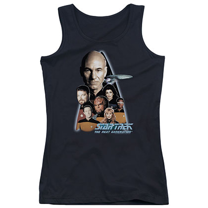 Star Trek The Next Generation Black Juniors Tank Top