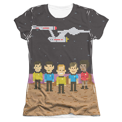 Star Trek Pixel Crew TOS Sublimation Juniors T-Shirt