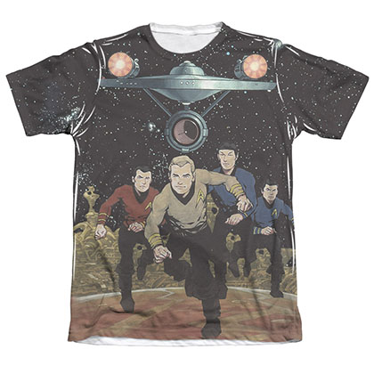 Star Trek TOS Running Sublimation T-Shirt