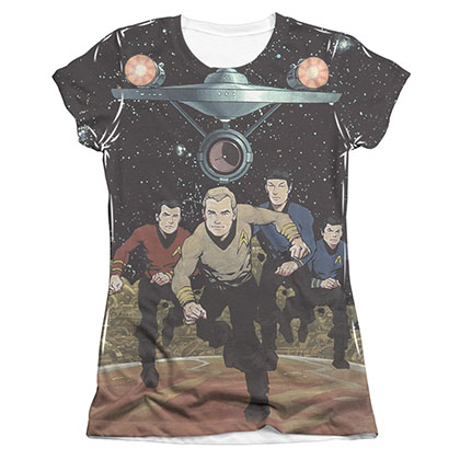Star Trek TOS Running Sublimation Juniors T-Shirt