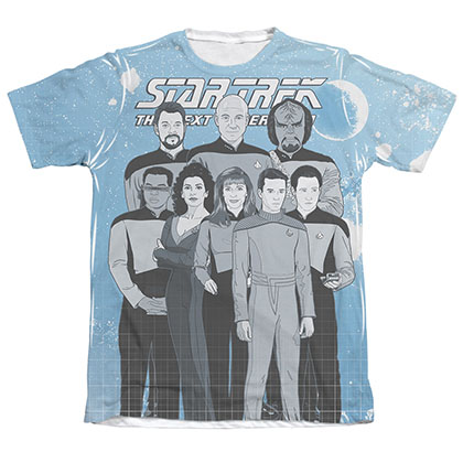 Star Trek TNG Comic Crew Sublimation T-Shirt