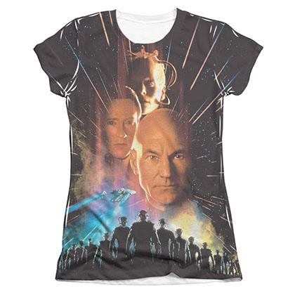 Star Trek TNG First Contact Sublimation Juniors T-Shirt