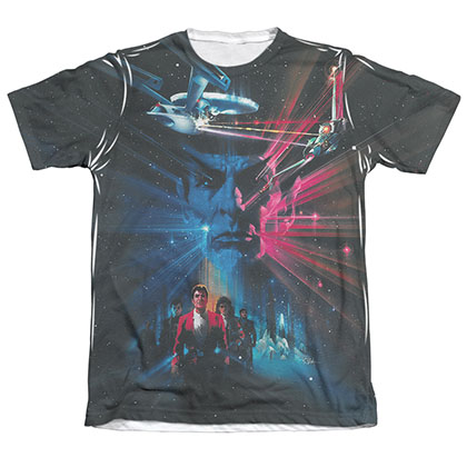 Star Trek III Movie Poster Sublimation T-Shirt