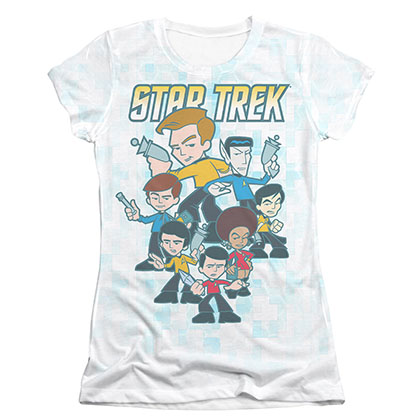 Star Trek Quogs Crew Sublimation Juniors T-Shirt