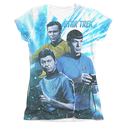Star Trek TOS Space Shadows Sublimation Juniors T-Shirt