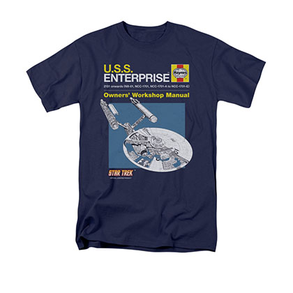 Star Trek Enterprise Manual Blue T-Shirt