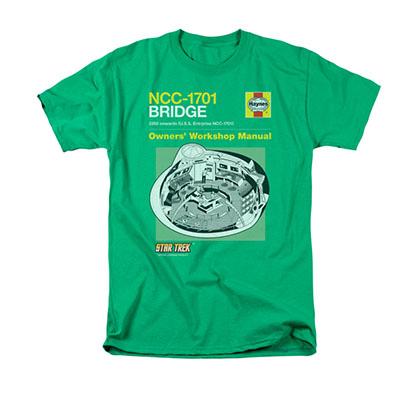 Star Trek Bridge Manual Green T-Shirt