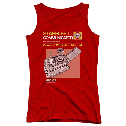 Star Trek Communicator Manual Red Juniors Tank Top