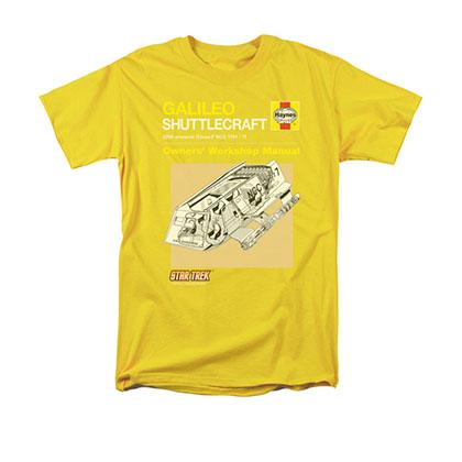 Star Trek Shuttlecraft Manual Yellow T-Shirt