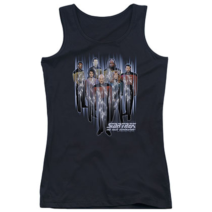 Star Trek Beam Up Black Juniors Tank Top