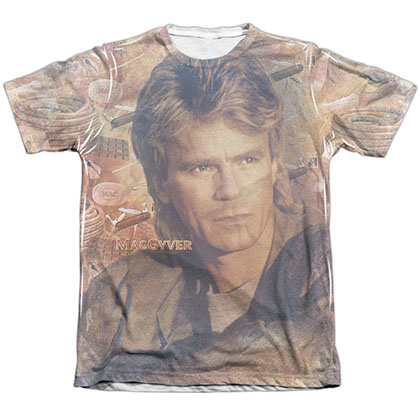 Macgyver Tools Of The Trade White Sublimation T-Shirt