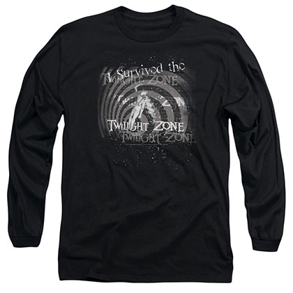 Twilight Zone I Survived Black Long Sleeve T-Shirt