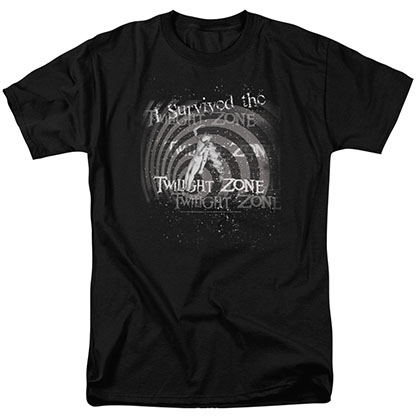 Twilight Zone I Survived Black T-Shirt