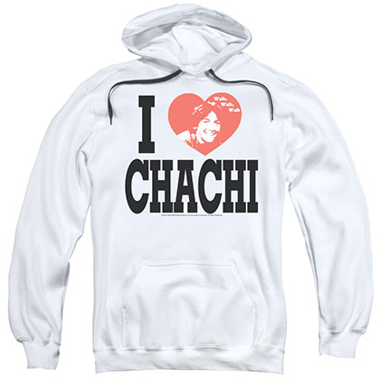 Happy Days I Heart Chachi White Pullover Hoodie