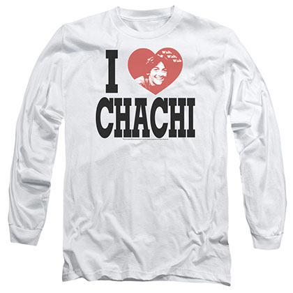 Happy Days I Heart Chachi White Long Sleeve T-Shirt