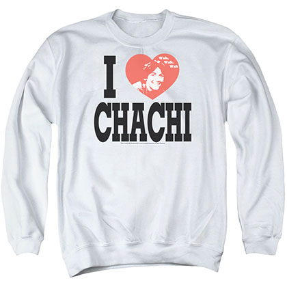 Happy Days I Heart Chachi White Crew Neck Sweatshirt