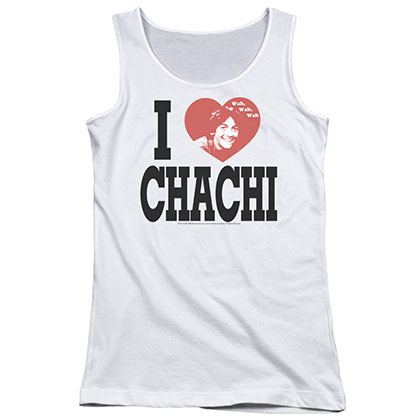 Happy Days I Heart Chachi White Juniors Tank Top