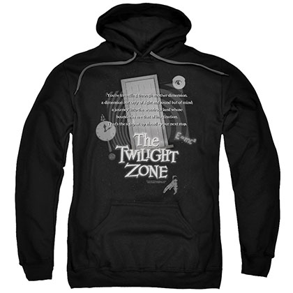 Twilight Zone Monologue Black Pullover Hoodie
