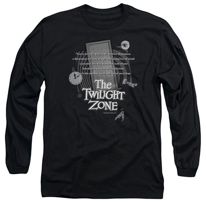 Twilight Zone Monologue Black Long Sleeve T-Shirt