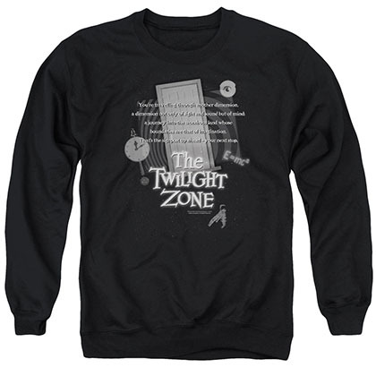 Twilight Zone Monologue Black Crew Neck Sweatshirt